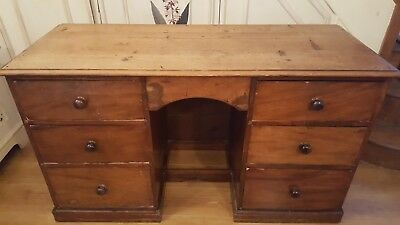 Desk Antique All Original Deep Drawers 140Cm X 57Cm