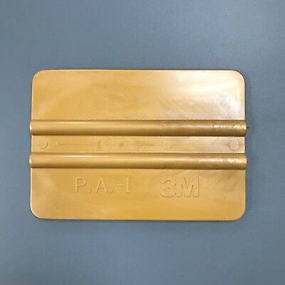 """3M 4"""" Gold Squeegee - Hard Card Car Window Film Tinting Fitting Tool"""