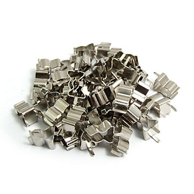 50 Pcs Metal Clip Clamps for 6 x 30mm Glass Fuse Tube
