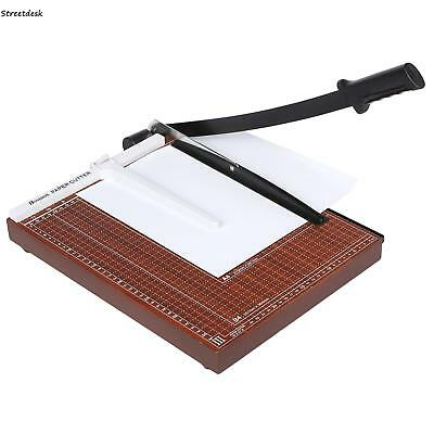 B4 Precision Rotary Guillotine Paper Card Photo Trimmer Cutter Ruler Wood