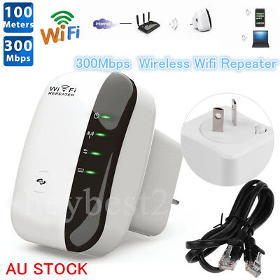 Hot 300Mbps Wifi Repeater N 802.11 AP Range Router Wireless Extender Booster AU