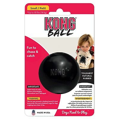 Small Chewing Ball Fetch Toy for Dogs Black Durable Rubber Material Dog Play