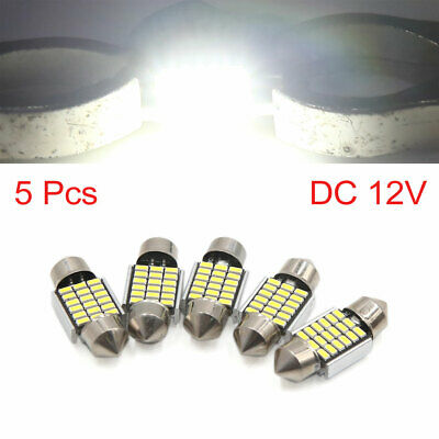 5pcs White 31mm 3014 SMD 18 LED Car Lights Festoon Interior Dome Map Lamp Bulb