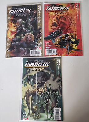 Ultimate Fantastic Four 30 - 32 Frightful Four Debut Marvel Zombies Marvel Comic