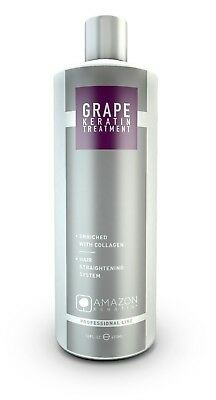 Amazon Keratin Alisado Brasileño Grape Extract Con Colágeno 946 ml / 32 fl.oz