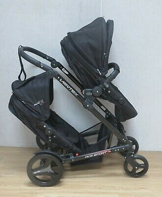 Oyster Max II Pram Stroller with Tandem Double Seats Teal Grey Carrycot