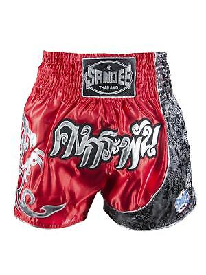 Sandee Unbreakable Red/Black/White Muay Thai Boxing Shorts