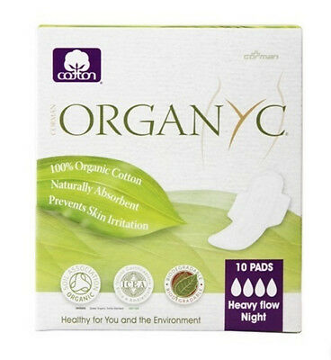Organyc Cotton Pads Moderate Flow 10CT (5 Boxes) 10 Count / 10 each / 10 pcs