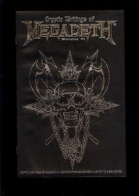 CRYPTIC WRITINGS of MEGADETH #1 LEATHER VARIANT NEAR MINT 1997 CHAOS COMIC KINGS