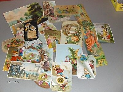 Lot of 150+ Misc Victorian Cards Trade Cards Blank & Greeting w Flaws c1880s