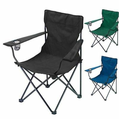 Folding Portable Beach Garden Camping Fishing Festival Chair with Cup Holder