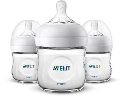 Philips Avent BPA Free Natural Anti-Colic 4oz Baby Bottle - 3 Pack