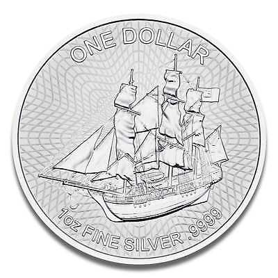 1 oz Cook Island 2018 Bounty Silver Coin - Mint State in Coin Capsule Packaged