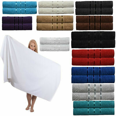 Pair of Bath Towels Luxury 100% Egyptian Cotton Large Soft Towels Bale UK Stock