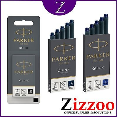 Genuine Parker Ink Cartridges Quink Ink Various Colours &  Various Pack Sizes