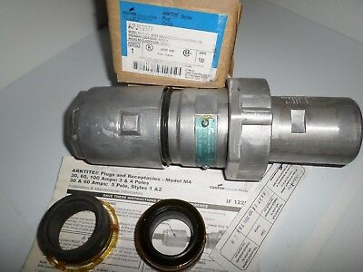 NEW IN BOX CROUSE-HINDS APJ10377 100-Amp  PIN&SLEEVE PLUG 100A AR1031 3W 3P 600V