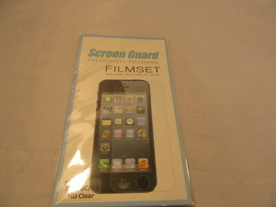 Brand New Screen Guard  Filmset for Iphone 5, 5c/5s