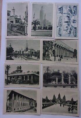 lot de 9cartes postales - EXPOSITION COLONIALE  PARIS 1931   ref.  654