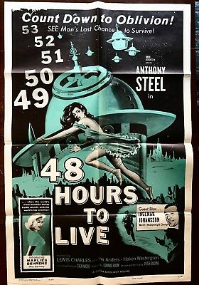 48 Hours To Live 1 Sheet Anthony Steel1959