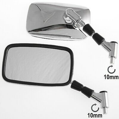 Universal Mirrors Rearview Scooter Motorcycle Sonic Moto Motorbike Chrome M10