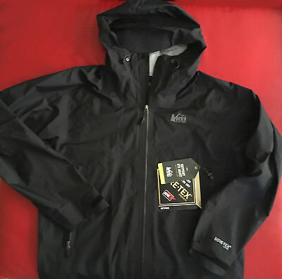 REI Co Op Drypoint GTX Jacket Gore Tex Active Water Proof Mens Size L Black NEW
