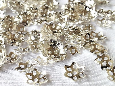 BEAD CUPS Silver & Gold Plated    5mm & 10mm  500 Pieces
