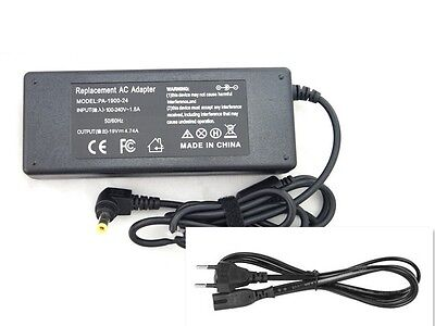 Cargador portatil TOSHIBA satellite UNIVERSAL 19V 4.74A 90W 5.5*2.5MM con Cable