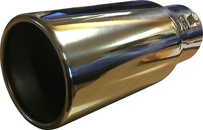 "Universal 9"" Car Straight Round Exhaust Tail Trim Tip End Pipe Stainless Steel"
