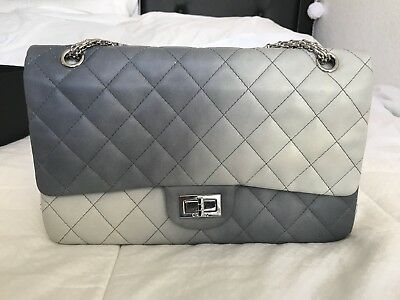 Authentic Classic Double Hybrid Reissue Degrade Flap Bag Quilted Lambskin  Jumbo 6c510b94205d2