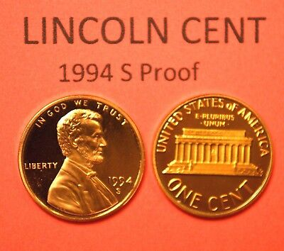 1994-S Lincoln Memorial  Cent  PROOF    Red  Nice  US  Coin   FREE  Shipping