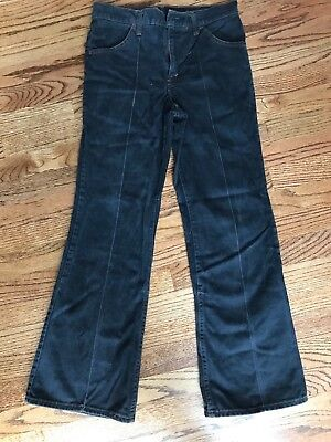 mens vintage levis black jeans flare bellbottom style with pleat