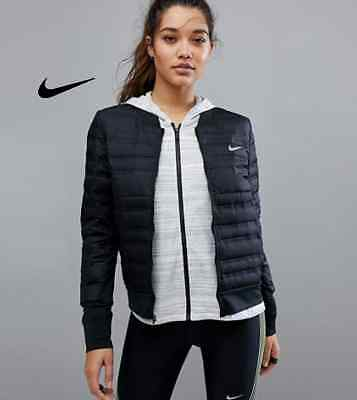 NIKE AEROLOFT WOMEN'S Running Jacket Black Size Small