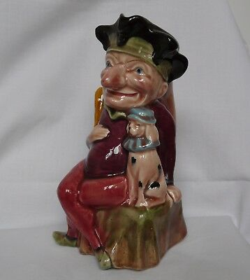 Vintage Retro Mr Punch with Toby Dog Melba Ware Jug 18.5 cm