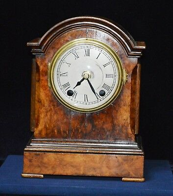 Antique Edwardian Quality Small Burr Walnut Bracket Clock Case