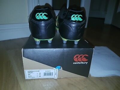 Men's Canterbury Phoenix III 8 Stud Uglies Rugby Boots Size 10 - EXCELLENT COND