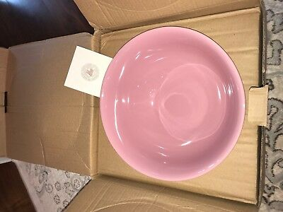 RARE! Longaberger Pottery Buffet Bowl PINK NIB Only one on ebay! Beautiful!