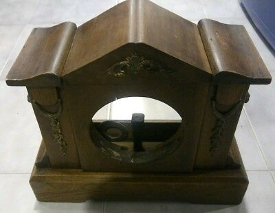 Antique mantle or shelf clock case with lions