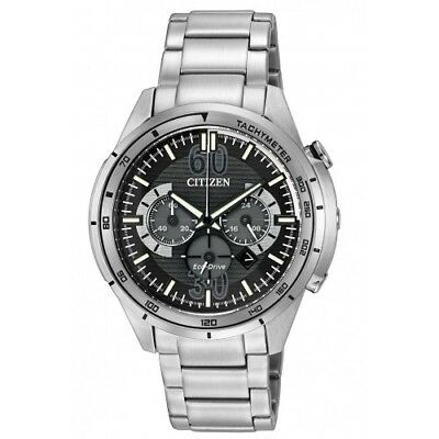 Citizen Eco-Drive CA4121-57E Men's HTM Chrono Silver-Tone Stainless Steel Watch