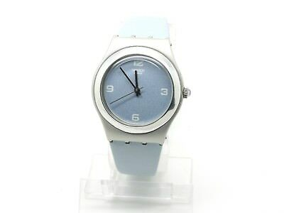 2001 Ladies Swatch Watch, Irony Medium, YLS1011 Falling Star, Leather Strap