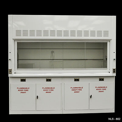 8' Laboratory Chemical Fume Hood with Flammable cabinets-