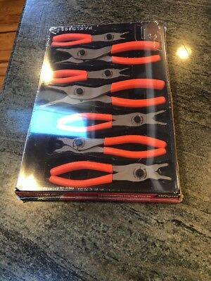 NEW Snap-on 7-piece Retaining Ring Plier Set SRPC107O Orange Handle Set