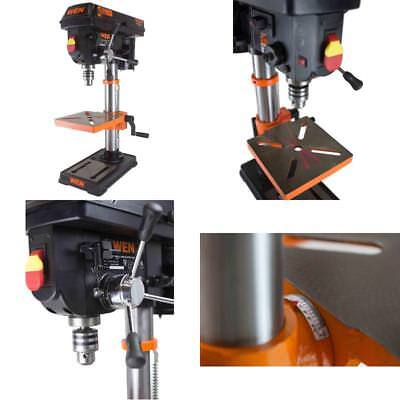 Variable Speed Drill Press With Laser Table Bench Top Machine Chuck Drill Bits
