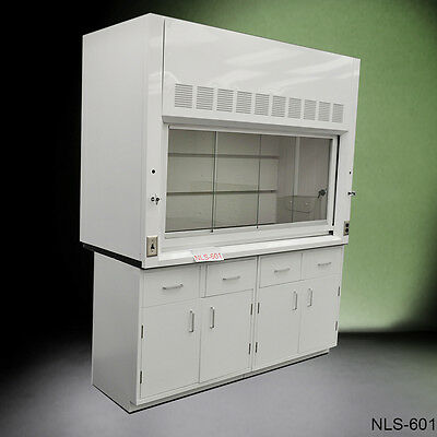 Laboratory Chemical 6' Fume Hood with Epoxy Top & Base Cabinets ** NEW ** (P)