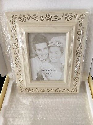Lenox Portrait Gallery Pierced Rose 5 X 7 Picture Frame New In Box