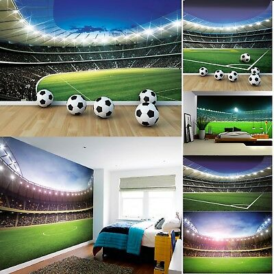 Football Stadium Wall Mural Photo Wallpapers for boys bedroom field kids poster