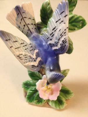 Vintage Tilso BlueJay Hand Painted Figurine Japan NEAR MINT
