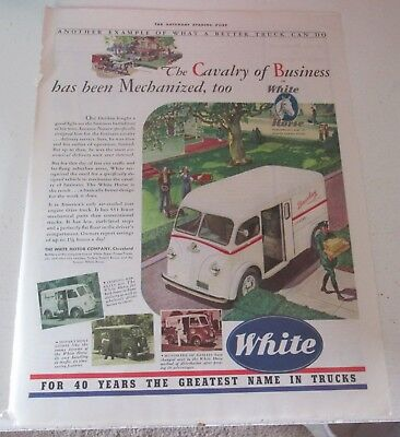 1941 original ad White Trucks Laundry Being Delivered to Residence