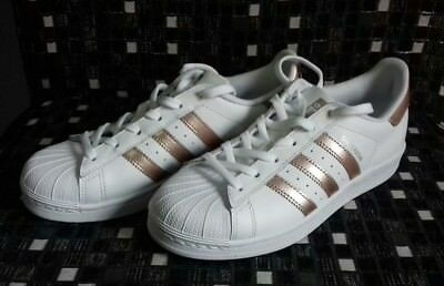 a17d088a4fa ADIDAS ORIGINALS SUPERSTAR Shoes Women s White Rose Gold Sneakers ...