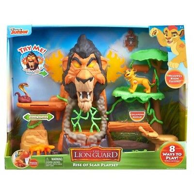Just Play Lion Guard The Rise of Scar Play Set- The Lion King- Disney Junior NEW