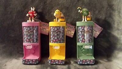 M&M's Easter Pastel Candy Dispensers Pink, Yellow & Green Set of 3 from 2011